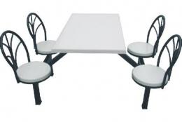 圆靠背四人餐桌