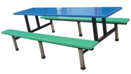 方形长凳餐桌
